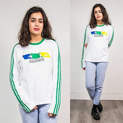 Adidas Retro Long Sleeve T-Shirt Sports Football 06 World Cup Fifa Germany 10