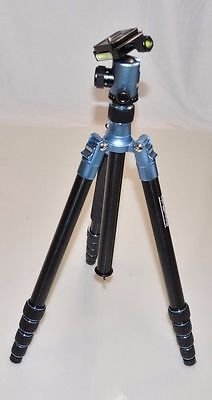 "Prima Photo Big Travel 55.1"" Tripod Universal Rubber Spiked - Blue PHTRBBL"