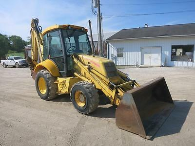 New Holland LB 110 B Backhoe, Cab, AC/Heat, 4x4, Extend-a-Hoe, 110 HP Diesel