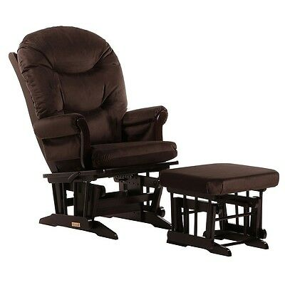 Dutailier Ultramotion Sleigh Glider and Nursing Ottoman Combo - Espresso Finish,