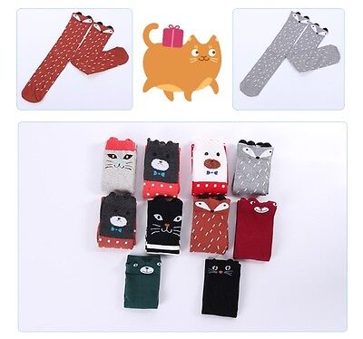 Girls Kids Cartoon Knee High Socks Tights Leg Warmer Stockings USA Seller