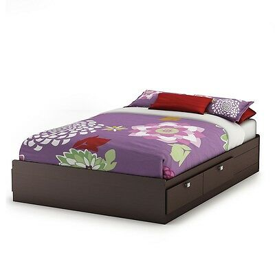 South Shore Barras Full Storage Bed - Chocolate