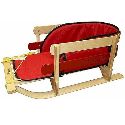 Streamridge - Traditional 2 Hoop Wooden Sleigh With Pad