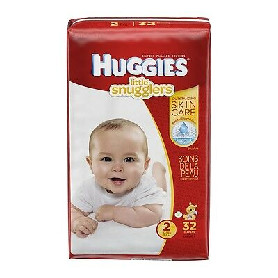 Huggies Little Snugglers Baby Diapers, Size 2
