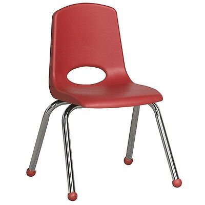 "ECR4Kids 6 Pack 14"" Stack Chair - Red"