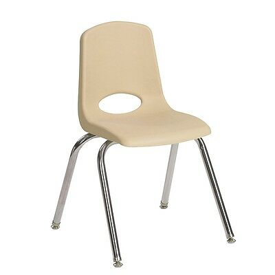 "ECR4Kids 6 Pack 14"" Stack Chair - Sand"