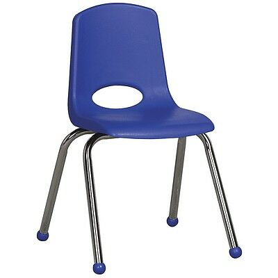 "ECR4Kids 6 Pack 16"" Stack Chair - Blue"