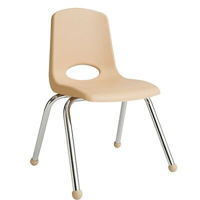 "ECR4Kids 6 Pack 16"" Stack Chair - Sand"