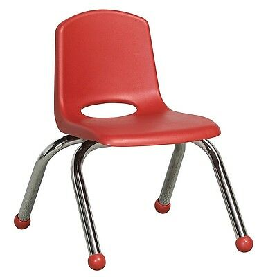 ECR4Kids 6 Pack 10-inch Stack Chair - Red