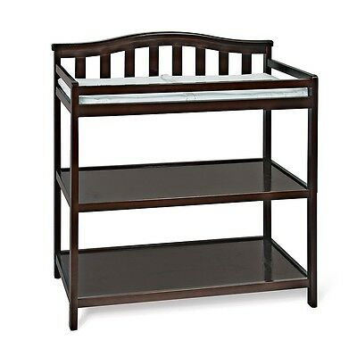 Child Craft arch top changing table, jamocha finish