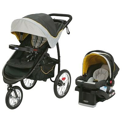 Graco FastAction Fold Jogger Travel System with SnugRide Click Connect 35 Infant