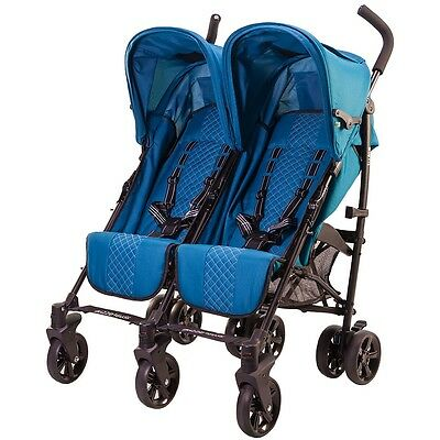 guzzie+Guss Twice Double Umbrella Stroller - Aqua