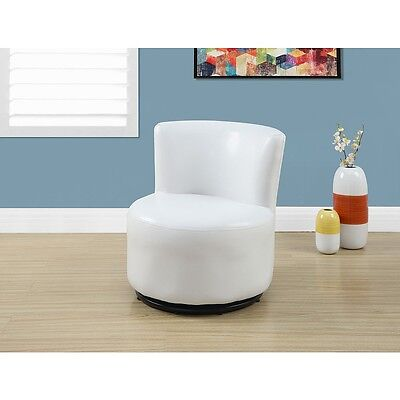 Monarch Juvenile Leather Look Swivel Chair - White