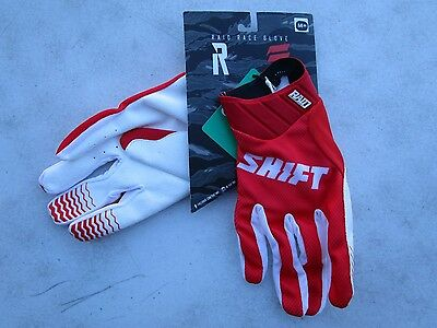 SHIFT MENS motocross RAID gloves sz 9 MEDIUM 14611-003-M  Red
