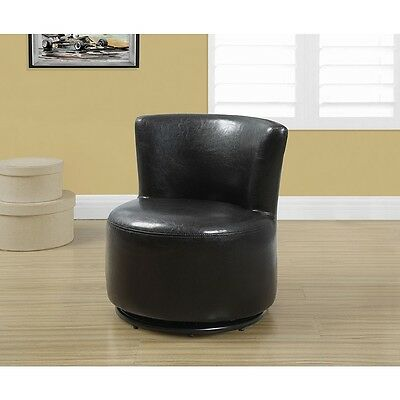 Monarch Juvenile Leather Look Swivel Chair - Dark Brown