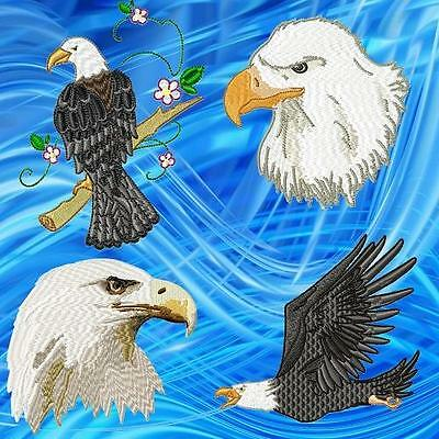 Eagles  ##20## Machine Embroidery Designs Cd 3 Sizes 4,5,6 Inch