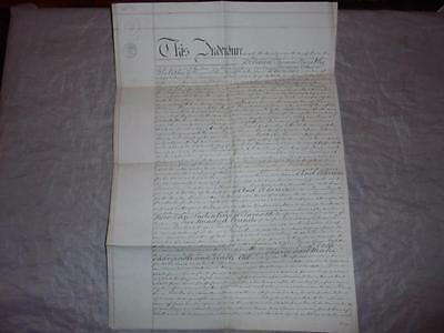 1864 Manuscript Paper Indenture Charge Document The Reens  Madron Cornwall #12