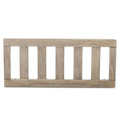 Delta Children Toddler Guardrail - Rustic Whitewash