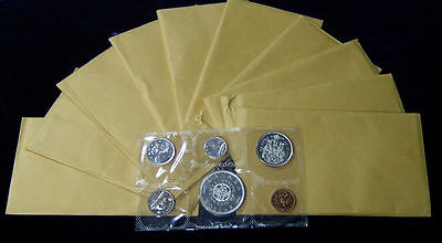 10 Sets 1964 Canada Proof-Like Canadian Mint Set Coins 80% Silver 11.25 Troy Oz