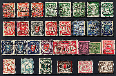Danzig Germany - Collection Of 30 Old Stamps - Mint & Used - High Cat. £