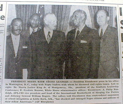 1958 newspaper w Early MARTIN LUTHER KING JR photo w NEGRO Civil Rights leaders