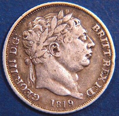 1819 George III KGIII Silver 0.925 sixpence 6d  coin *[3438]