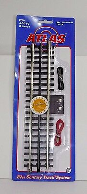 ATLAS #6010 O Gauge 3-Rail Straight Terminal Track Piece  New in Package