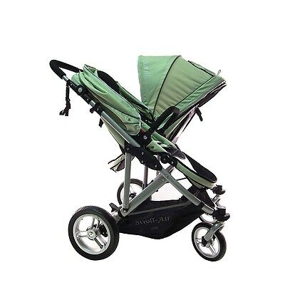 StrollAir My Duo Twin / Double Side by Side Stroller - Green
