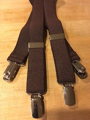Little/toddler/ Boys/girls Suspenders - Brand New! Brown/made In The Usa