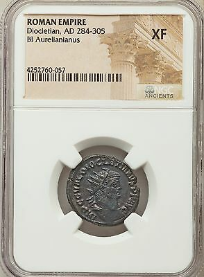 Roman Empire Diocletian AD 284-305 Bl Aurelianianus NGC Ancients XF