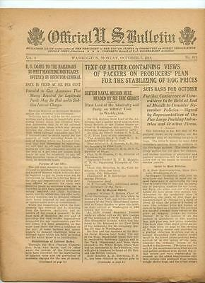 WWI Official US Bulletin Daily Newspaper October 7 1918 Casualty Lists