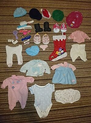 Baby Annabell Large Bundle Clothes Accessories Potty Christmas Doll Job Lot