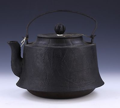 A Japanese Antique Iron Teapot With Cover, 19Th Century