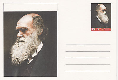 CINDERELLA - 3934- CHARLES DARWIN  featured on fantasy Postal Stationery card