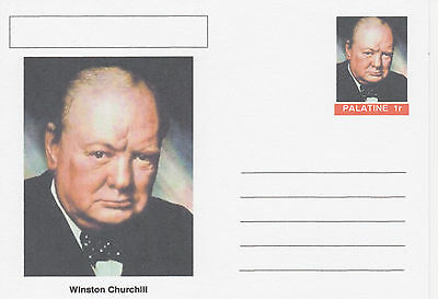 CINDERELLA - 3935 - WINSTON CHURCHILL featured on fantasy Postal Stationery card