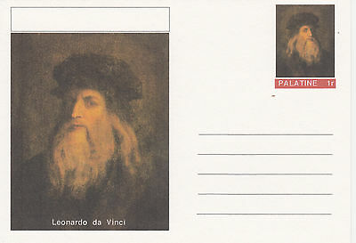 CINDERELLA - 3936 LEONARDO DA VINCI featured on fantasy Postal Stationery card