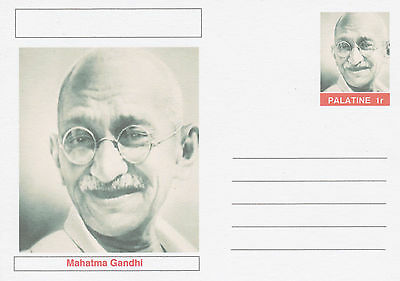 CINDERELLA - 3939 - MAHATMA GANDHI featured on fantasy Postal Stationery card