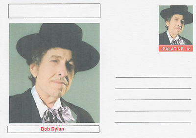 CINDERELLA - 3940 - BOB DYLAN  featured on fantasy Postal Stationery card