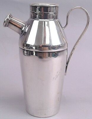 Antique Cocktail Shaker Elkington Co Silver Plate Hallmarked England Beautiful