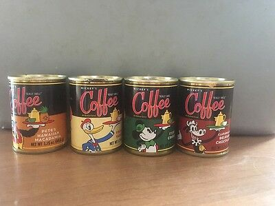 Mickey's Really Swell Coffee Vintage Set Of 4 Unopened Walt Disney