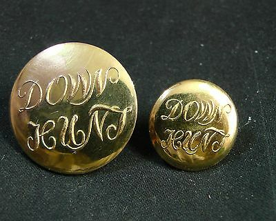 Pair of MARQUESS OF DONEGALL'S (IRELAND) DOWN HUNT CLUB BUTTONS 23/16 mm UNKNOWN