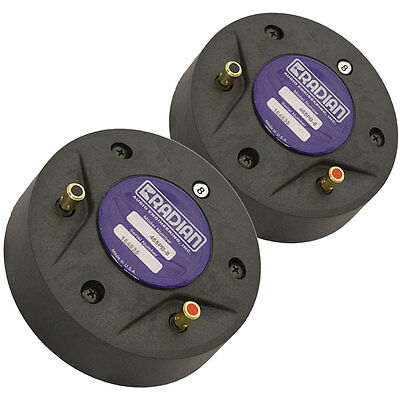 """Pair Radian 465PB High Frequency Compression Driver 1"""" 8 ohm"""