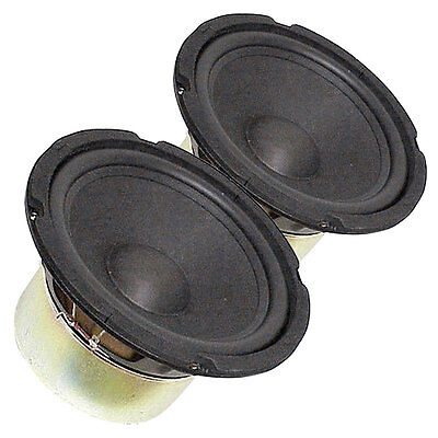 "Pair 8"" Subwoofer Woofer Heavy Duty Shielded Magnet Rubber Surround 4Ohm"