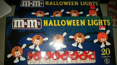 2 New  M&m Older  Lights In Box Never Opened Collectible