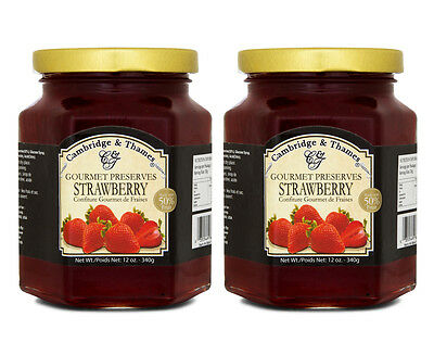2 x Cambridge & Thames Strawberry Jam 340g