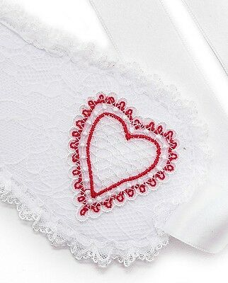 L'Agent by Agent Provocateur NEW Bright White Red Esthar Lace Eye Mask $50 #499