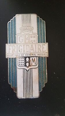 Vintage Frigidaire General Motors Appliance Emblem Part Refrigerator Sign