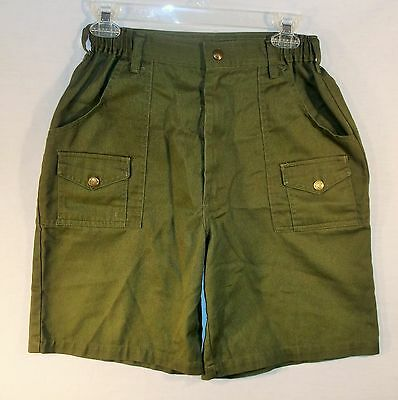 """BSA Boy Scouts Of America SHORTS size 24 to 26"""" inch waist Green"""