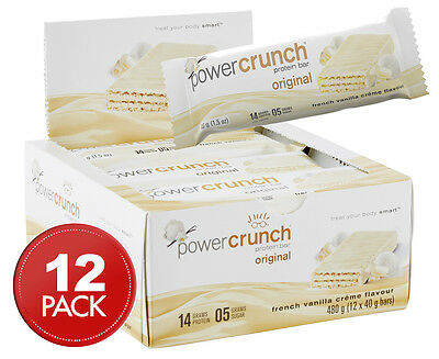12 x Power Crunch Protein Bar French Vanilla Crème 40g