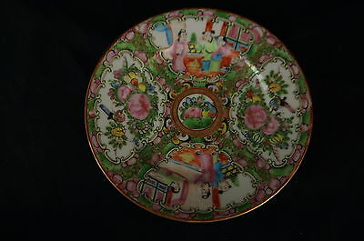 "Great old Chinese Famille Rose saucer 6"", part of collection [Y8-W7-A9]"